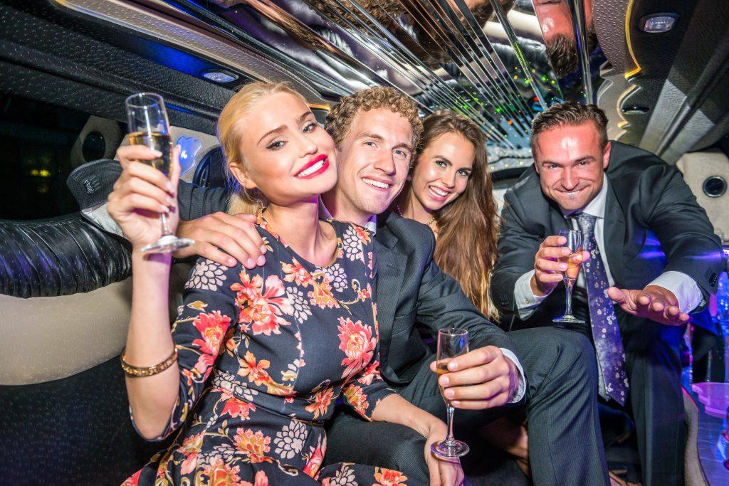 Party in der Limousine