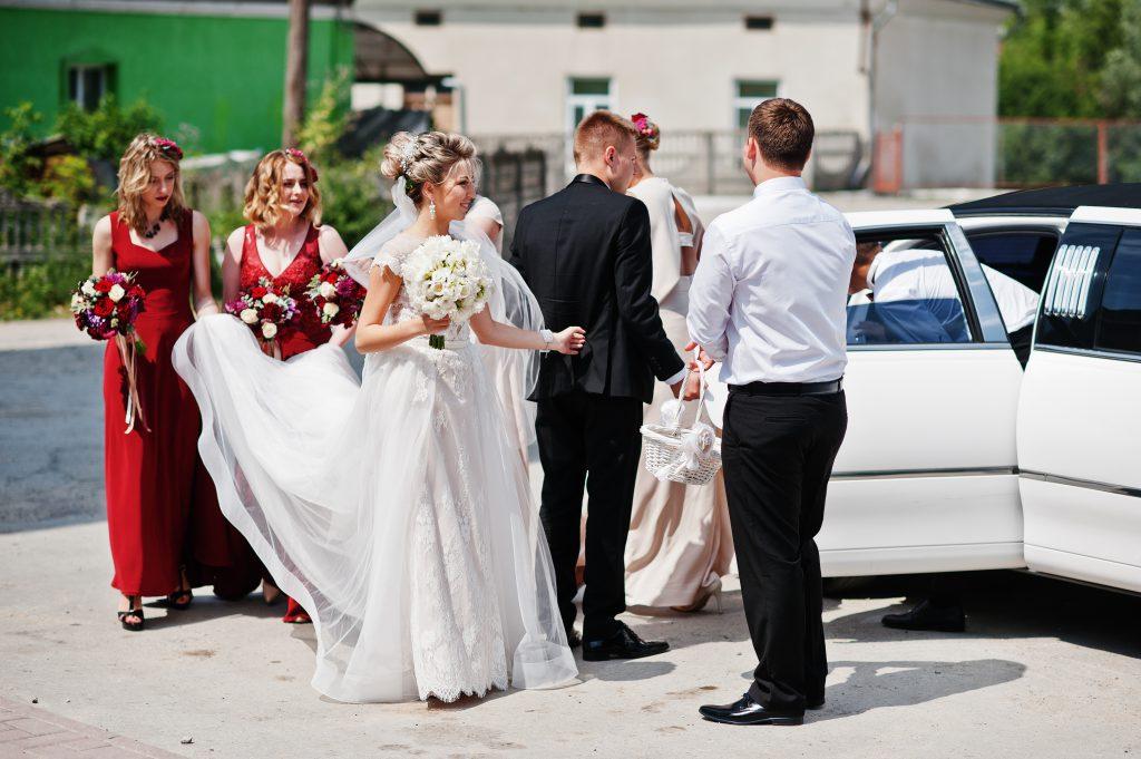 Hochzeit mit Limousine